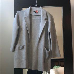J. Crew gray cardigan/blazer